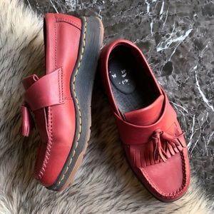 Dr Martens Red Leather Loader Edison Size 6 L